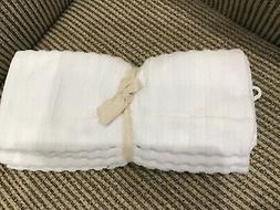 THYME & SAGE KITCHEN TOWELS  WHITE STRIPE 16 X 26 100% TURKI