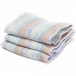 Full Circle Tidy 100% Organic Cotton Dish Cloths, Set of 3,