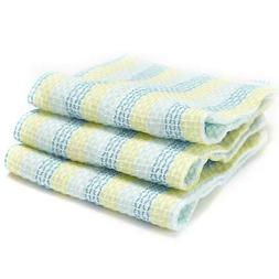Full Circle Tidy Organic Dish Cloths Set of 3 Spring Green H
