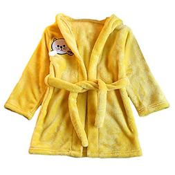 For Toddler Infant Baby Bathrobe Cartoon Cat Animals Hooded