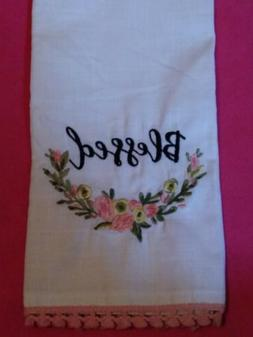 Kitchen Towel Cotton Flour Sack Embroidered Spring Blessed A