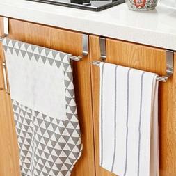 Towel Rack Hanger Holder Kitchen Cabinet Over Door Storage S