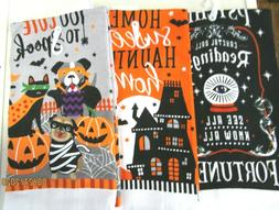 TOWELS..KITCHEN/HAND..HALLOWEEN.3 DESIGNS TO CHOOSE FROM