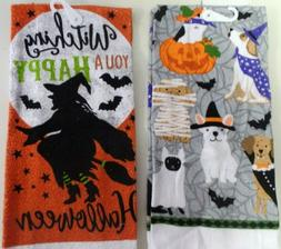 "TOWELS. HAND-KITCHEN---HALLOWEEN DESIGNS---15"" x 25"""