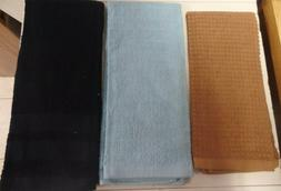 TOWELS..KITCHEN / HAND..BLACK--BROWN--BLUE