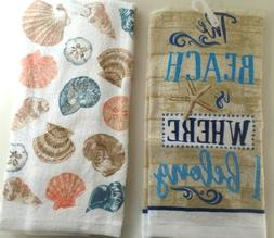 towels kitchen hand the beach and shells
