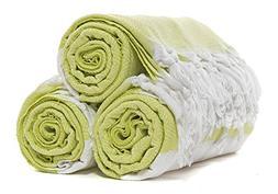 Atlantis Turkish Peshtemal Towel for Beach Bath Lime Green D