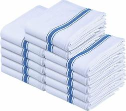 Dish Towels 12 Pack White Cotton,15 x 25 Inches Soft Cotton
