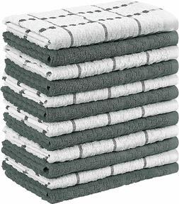 Kitchen Towels, 15 x 25 Inches, 100% Ring Spun Cotton Super
