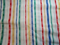 Vintage Kitchen Toweling Striped on whi Light weight 100% Co