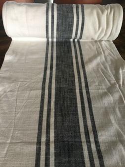 Vintage STYLE Kitchen Towel Fabric Moda Farmhouse Cream Blac