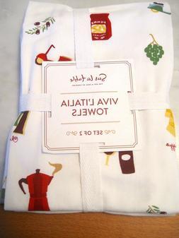 Sur La Table Viva L'Italia Kitchen Towels Set of Two - NWT