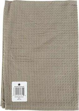 """Dunroven House Waffle Weave Kitchen Towel 20""""X28"""" Solid Taup"""