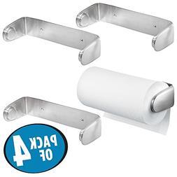 mDesign Wall Mount Paper Towel Holder & Dispenser, Mounts to