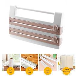 Powstro Wall Mounted Kitchen Paper Holder Hanger Tissue Towe