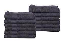 Wash Cloth Kitchen Towels, 12 Pack, 100% Natural Cotton, 12