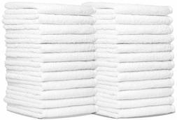 Royal Wash Cloth Kitchen Towels, 24-Pack, 100% Natural Cotto