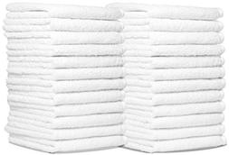 Wash Cloth Towels by Royal, 48-Pack, 100% Natural Cotton, 12