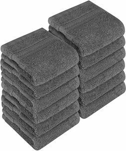 "Washcloth Towel Set Pack of 12 Premium Cotton 700 GSM 12x12"""