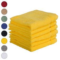 6 PACK Washcloth Towels Set | Premium Quality Luxury Turkish