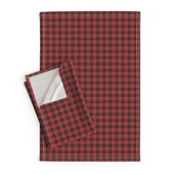 Western Rustic Country Linen Cotton Tea Towels by Roostery S