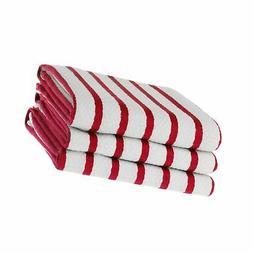 KAF Home Whim Casserole Towels Basket Weave Set Of 3, Red
