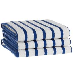 KAF Home Whim Casserole Towels Basket Weave Set Of 3, Blue