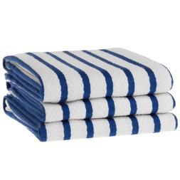 KAF Home Whim Casserole Towels Basket Weave Set Of 3, Blue