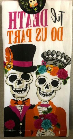 """Ritz White & Multi """"Til Death Do Us Part"""" Skeleton Kitchen T"""