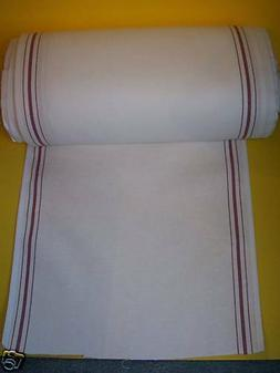 "White KITCHEN TOWELING,Red Stripe 17"" wide x 31"" long, Enoug"