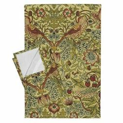 English Arts And Crafts Style Linen Cotton Tea Towels by Roo