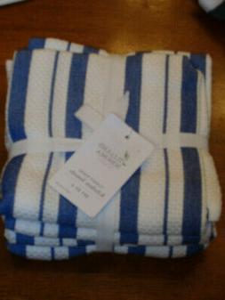 WILLIAMS SONOMA CLASSIC STRIPE KITCHEN TOWELS SET/4 IN BRIGH