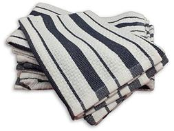 Williams Sonoma Classic Striped Dishcloths, Navy Blue