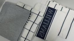 WILLIAMS SONOMA KITCHEN DISH TOWELS MULTIPACK NAVY SET OF 4