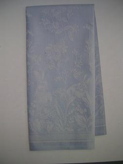 WILLIAMS SONOMA JACQUARD SPRING BLUE/WHITE KITCHEN TOWELS SE