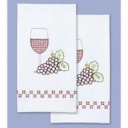 Wine & Grapes Decorative Hand Towels