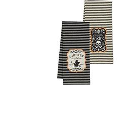 CC Home Furnishings Set of 2 Witches Brew and Poison Embroid