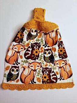 woodland animals crochet hanging kitchen