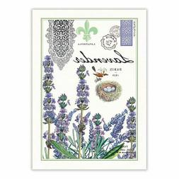 Michel Design Works Cotton Kitchen Tea Towel Lavender Rosema