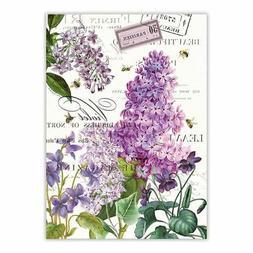 Michel Design Works Cotton Kitchen Tea Towel Lilac & Violets