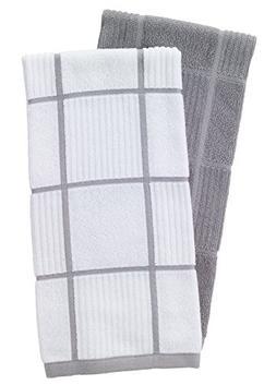 T-Fal Textiles 60954 2-Pack Solid & Check Parquet Design 100
