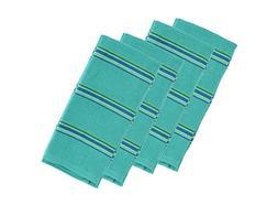Imusa Yarn Dye Stripe Kitchen Towels, 100% Absorbent Thick C