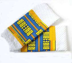 Set of 2 Yellow Kente Cotton Absorbent Kitchen Towels