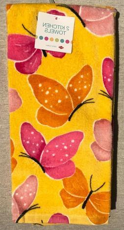 Ritz Yellow, Pink, & Orange Butterfly Theme Set of 2 Kitchen