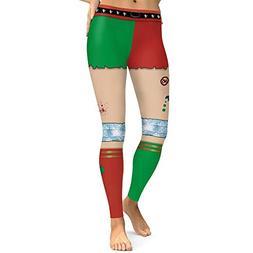 Willsa Womens Yoga Pants, Christmas Costume Leggings Workout