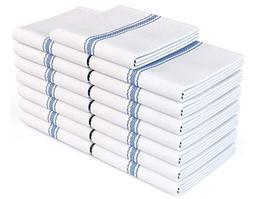 Zeppoli Classic White Kitchen Towels,100% Natural Cotton Dis